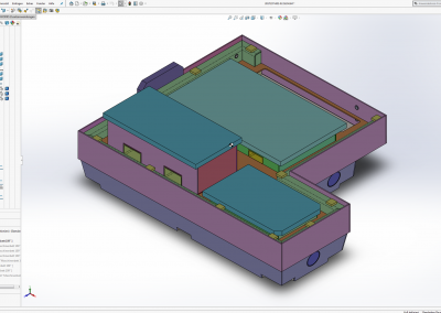 Maschinengrundgestell Blechkonstruktion in SolidWorks