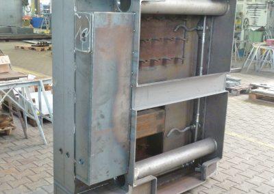 Stahlmantel eines Guss-Maschinengrundgestells