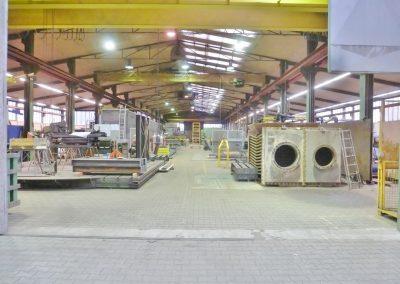 Montagebereich der Produktionshalle