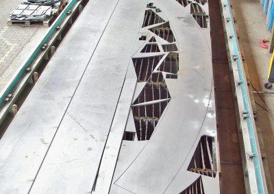 Blechzuschnitt auf der CNC-Plasma-/Autogen-Brennschneidemaschine