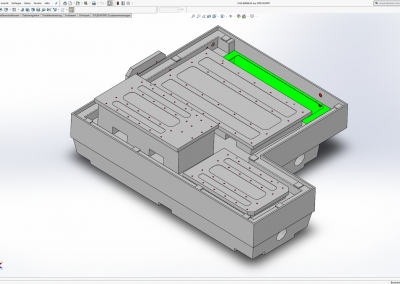 Maschinengrundgestell Volumenkörpervorlage in SolidWorks
