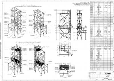 Stahlbaukonstruktion Zeichnung