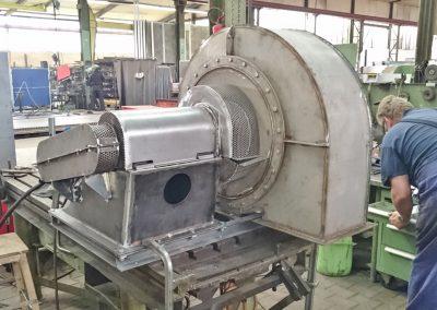 Montage eines Ventilators