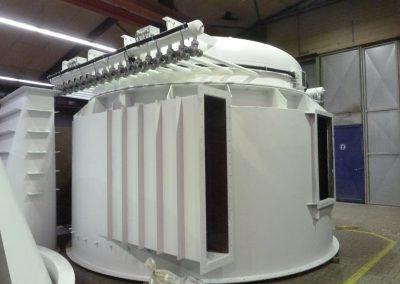 Schlauchfilterkopf inkl. Elektroinstallation für Druckstoßabreinigung