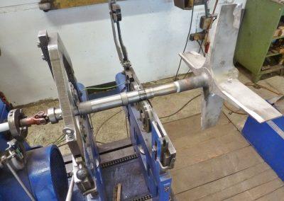 Hochtemperatur-Rotor auf der Wuchtmaschine